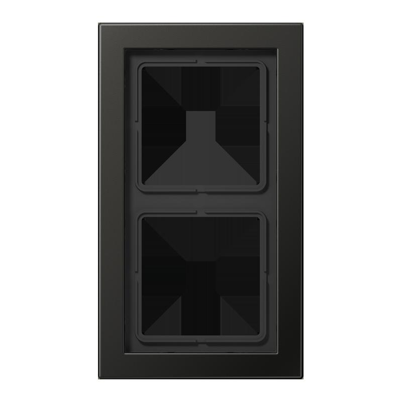jung ls design afdekraam antraciet 2 voudig schakelmateriaal. Black Bedroom Furniture Sets. Home Design Ideas