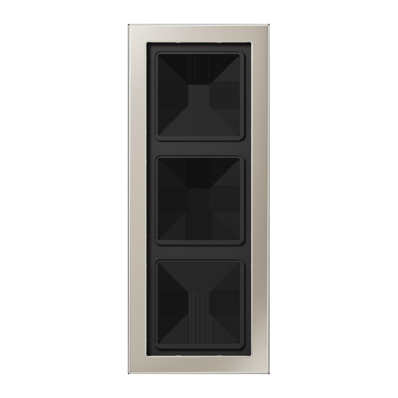 jung ls design afdekraam edelstaal 3 voudig schakelmateriaal. Black Bedroom Furniture Sets. Home Design Ideas