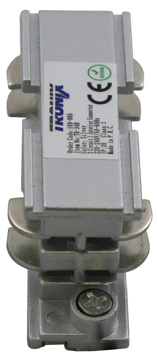 Interne koppeling voor een spanningsrail aluminium 169-005