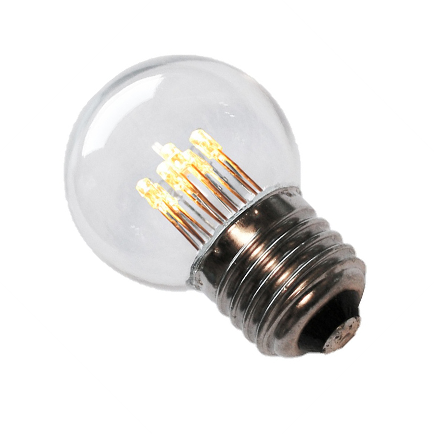 LED lamp helder 45mm E27 1W 6LED