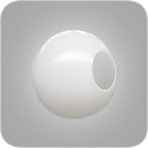 Kunststof bol wit opaal 250mm gatmaat 120mm AL28106