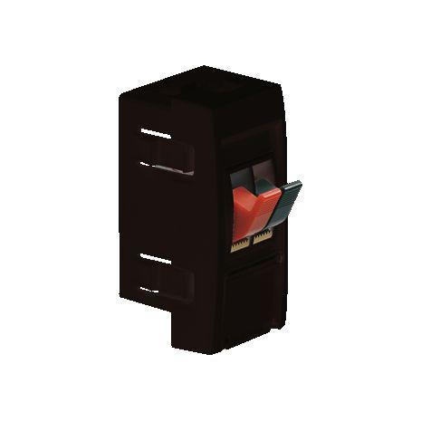 Hager plintgoot outlet stopcontact met dubbele luidsprekeraansluiting zwart 55mm