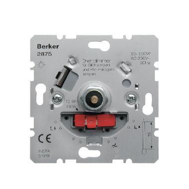 Berker draaidimmer 60-600W draai aan/uit voor gloei-halogeen