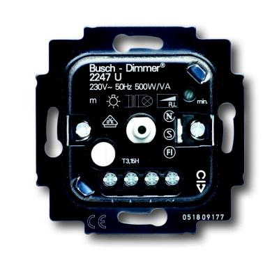Busch-Jaeger dimmer 2247 U voor conventionele trafo's (20-500W)