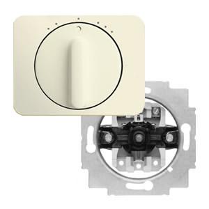 Busch-Jaeger 3-standen schakelaar met draaiknop wit (ivoor)