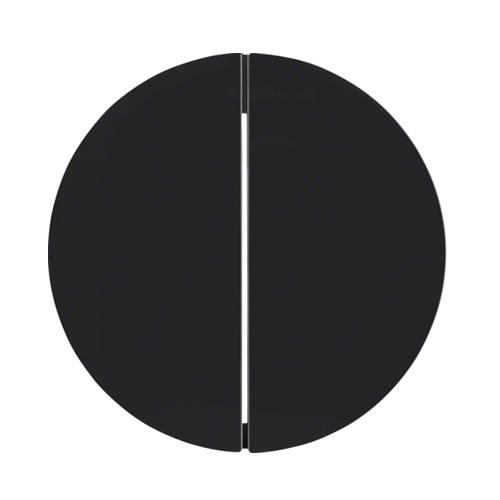 Berker Drukknop 2-voudig r1/r3 zwart 85142131