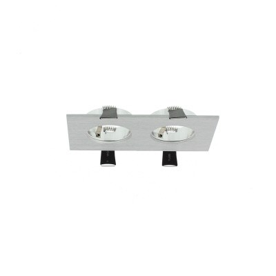 Inbouwspot LED armatuur aluminium 2 voudig warm wit Luzern