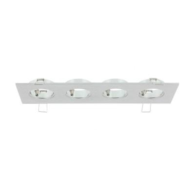 Luzern LED armatuur 4 voudig aluminium 876506 2700K