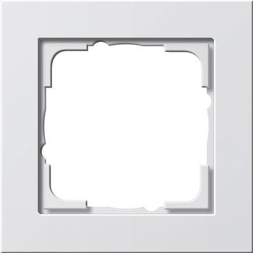 GIRA E2, Standaard 55, System 55 1-voudig Frame Zuiver wit 0211 29