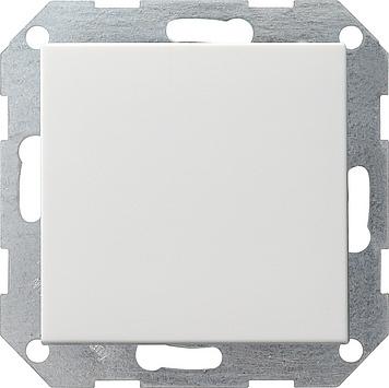 Gira drukvlakschakelaar wissel enkelpolig wit glanzend