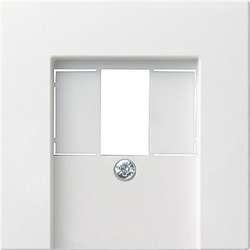 Gira inzetplaat voor USB stereoaansluitingv 55 zuiverwit glanzend wit 027603