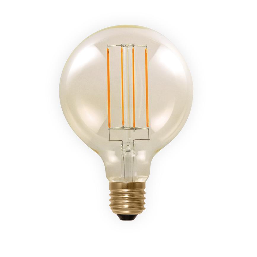 led globe lamp 80mm filament e27 6w 50291 segula 2000k 325lm dimbaar golden line 80. Black Bedroom Furniture Sets. Home Design Ideas
