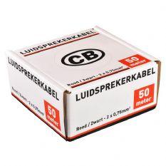 Luidsprekerkabel 2 x 1mm 50 M Rood Zwart 40 42246