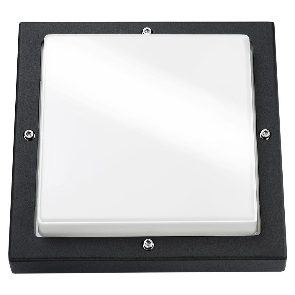 SG lighting LED Bassi E27 zwart vierkant 614180
