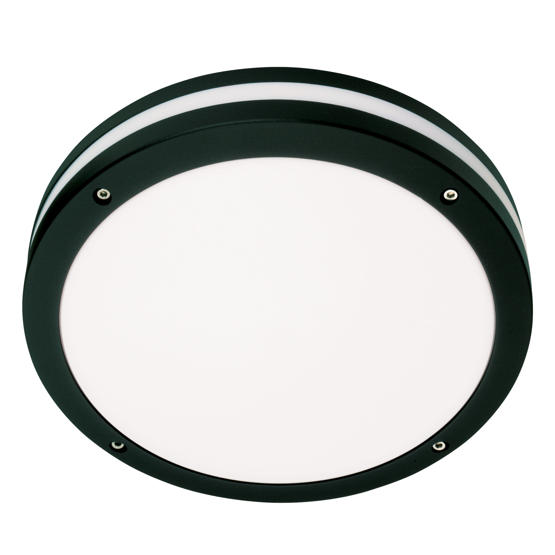 SG lighting LED Discos E27 zwart rond IP65 IK10 624829