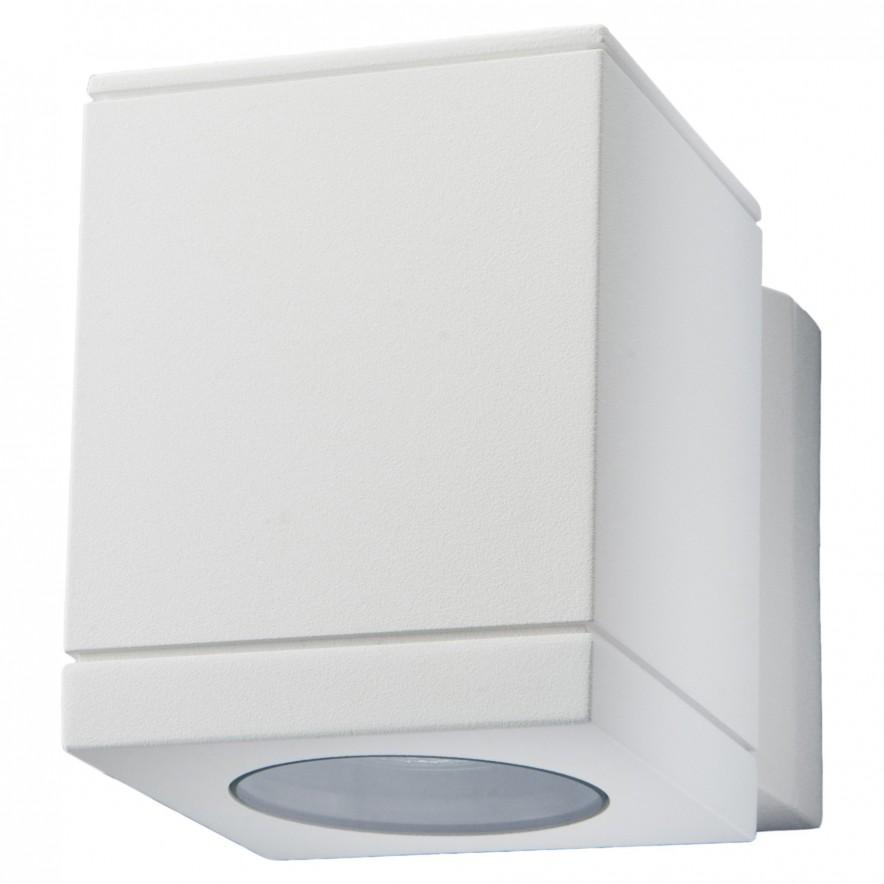 Wandlamp wit voor buiten slagvast en rechthoekig 90x120x147 exclusief lamp