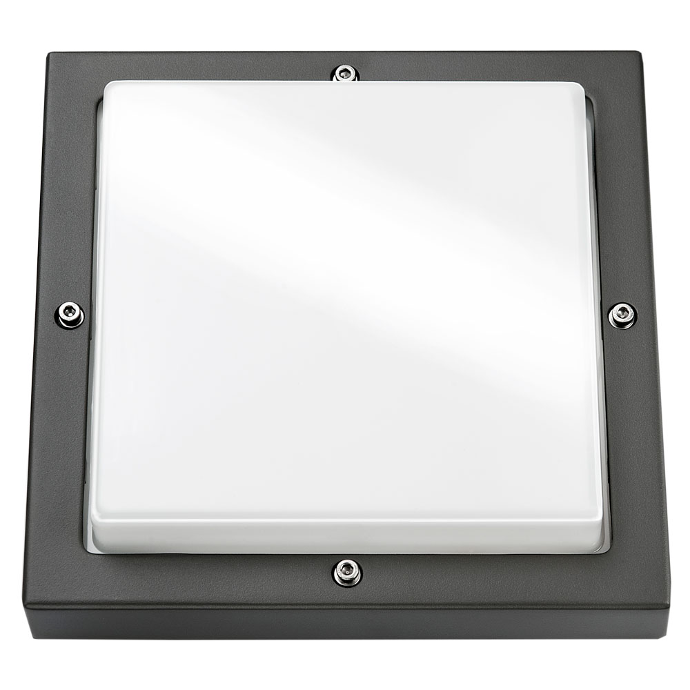 SG Lighting LED Bassi E27 grafiet vierkant 623180 buitenlamp