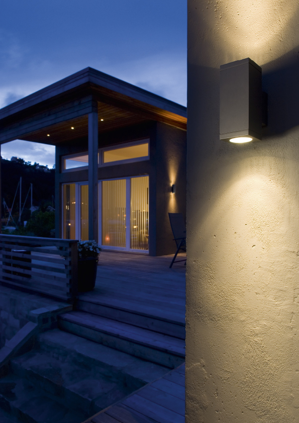 SG lighting LED Echo zwart 614682 wand updown