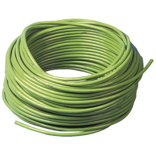 PUR kabel H07BQ F 3 x 15mm kleur Groen 50 meter