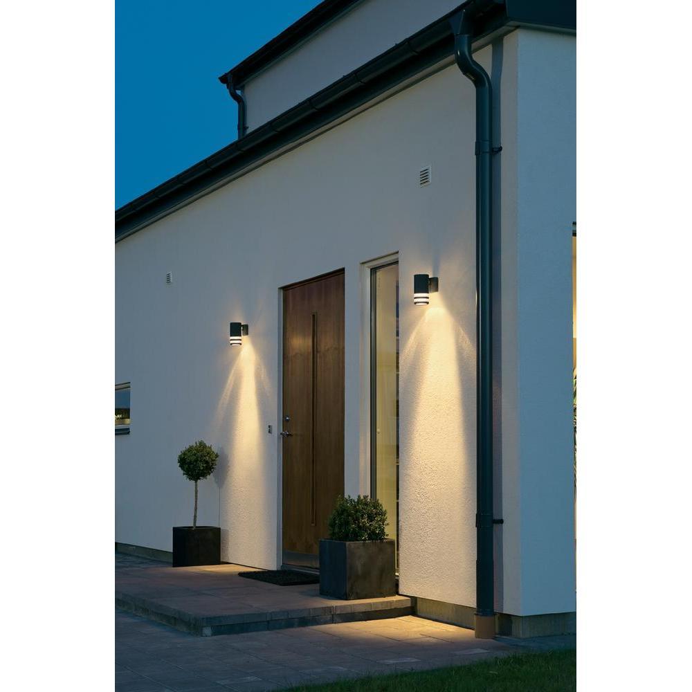 Wandlamp modena beneden zwart met 2 lichtringen - Huis modena ...