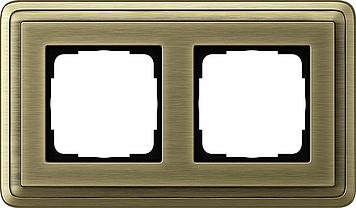 Classix brons dubbel afdekraam Gira 0212621