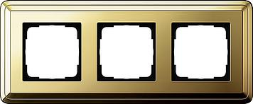 Classix messing 3 voudig afdekraam Gira 0213631