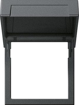 GIRA tussenring 45X45MM met klapdeksel zwart mat 55