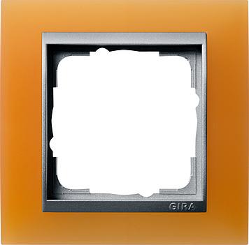 Gira Event Opaak Oranje Aluminium 1 voudig