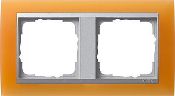Gira Event Opaak Oranje Aluminium 2 voudig