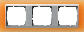 Gira Event Opaak Oranje Aluminium 3 voudig