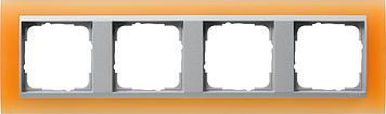 Gira Event Opaak Oranje Aluminium 4 voudig