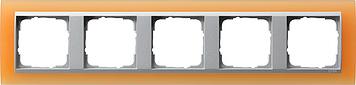 Gira Event Opaak Oranje Aluminium 5 voudig
