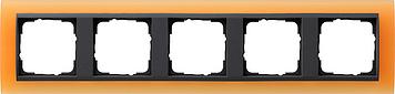 Gira Event Opaak Oranje Antraciet 5 voudig