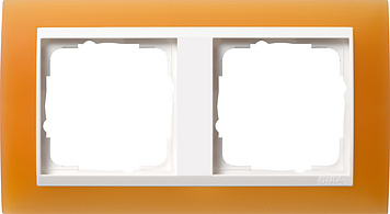 Gira Event Opaak Oranje Zuiverwit 2 voudig
