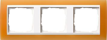 Gira Event Opaak Oranje Zuiverwit 3 voudig