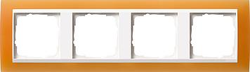 Gira Event Opaak Oranje Zuiverwit 4 voudig