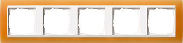Gira Event Opaak Oranje Zuiverwit 5 voudig