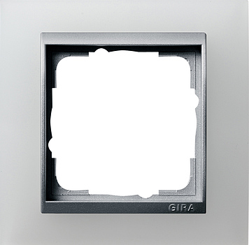 Gira Event Opaak Wit Aluminium 1 voudig