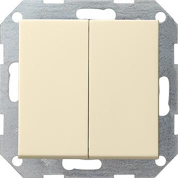 Gira drukvlak serieschakelaar creme glanzend 012501