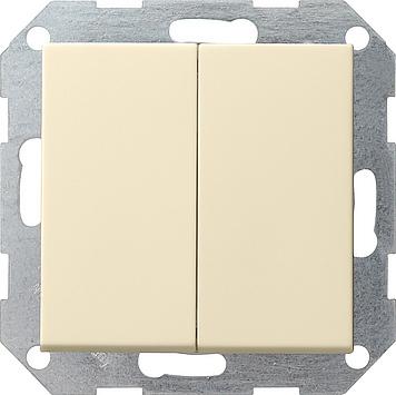 Gira drukvlak wissel wisselchakelaar creme glanzend 012801