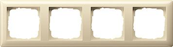Gira standaard 55 afdekraam 4 voudig creme glanzend 021401