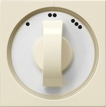 Gira ventilatorschakelaar 1-2-3 met draaiknop creme glanzend CA10A230/NLA007 + 066501