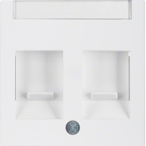 berker s 1 rj45 inbouwset met draagframe en inzetplaat. Black Bedroom Furniture Sets. Home Design Ideas