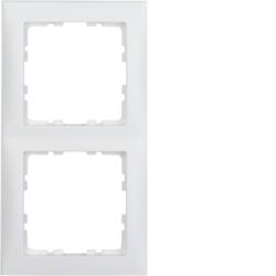 berker s 1 afdekraam 2 voudig polarwit mat schakelmateriaal. Black Bedroom Furniture Sets. Home Design Ideas
