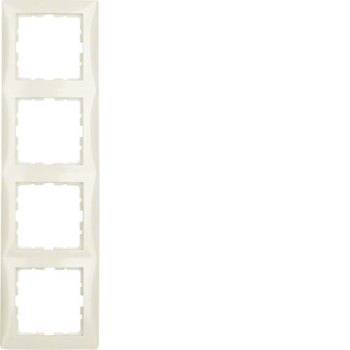 berker s1 afdekraam 5 voudig creme glanzend schakelmateriaal. Black Bedroom Furniture Sets. Home Design Ideas
