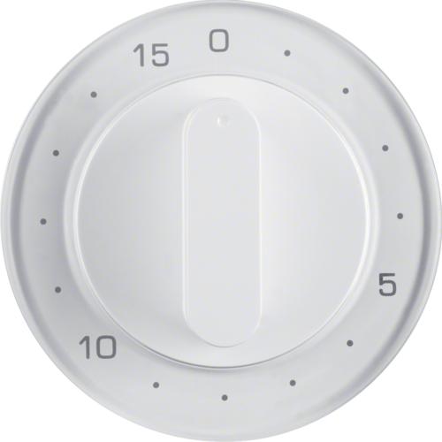 Berker centraalplaat mechanische tijdschakelaar R1-R3 wit 16322089