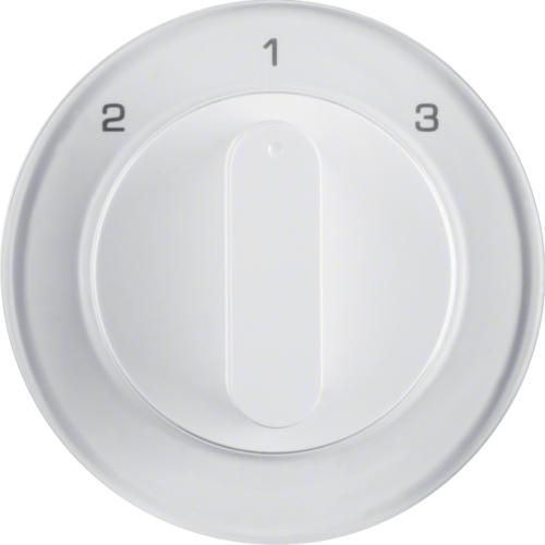 Berker centraalplaat 3 standen schakelaar 2-1-3 R1-R3 wit 10842089