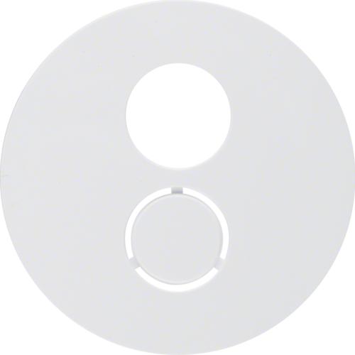 Berker centraalplaat luidsprekeraansluiting R1-R3 wit 11962089