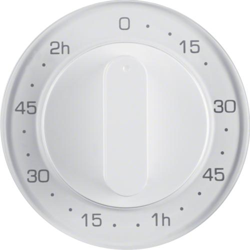 Berker centraalplaat mechanische tijdschakelaar R1-R3 wit