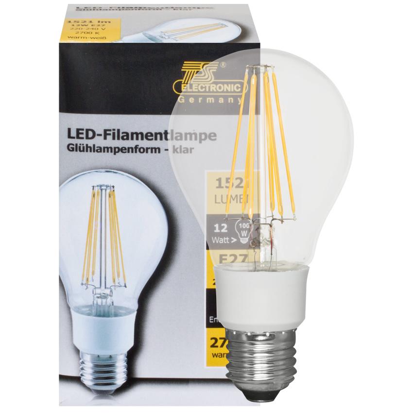 led filament lamp 8w 1055 lumen e27 2700k. Black Bedroom Furniture Sets. Home Design Ideas